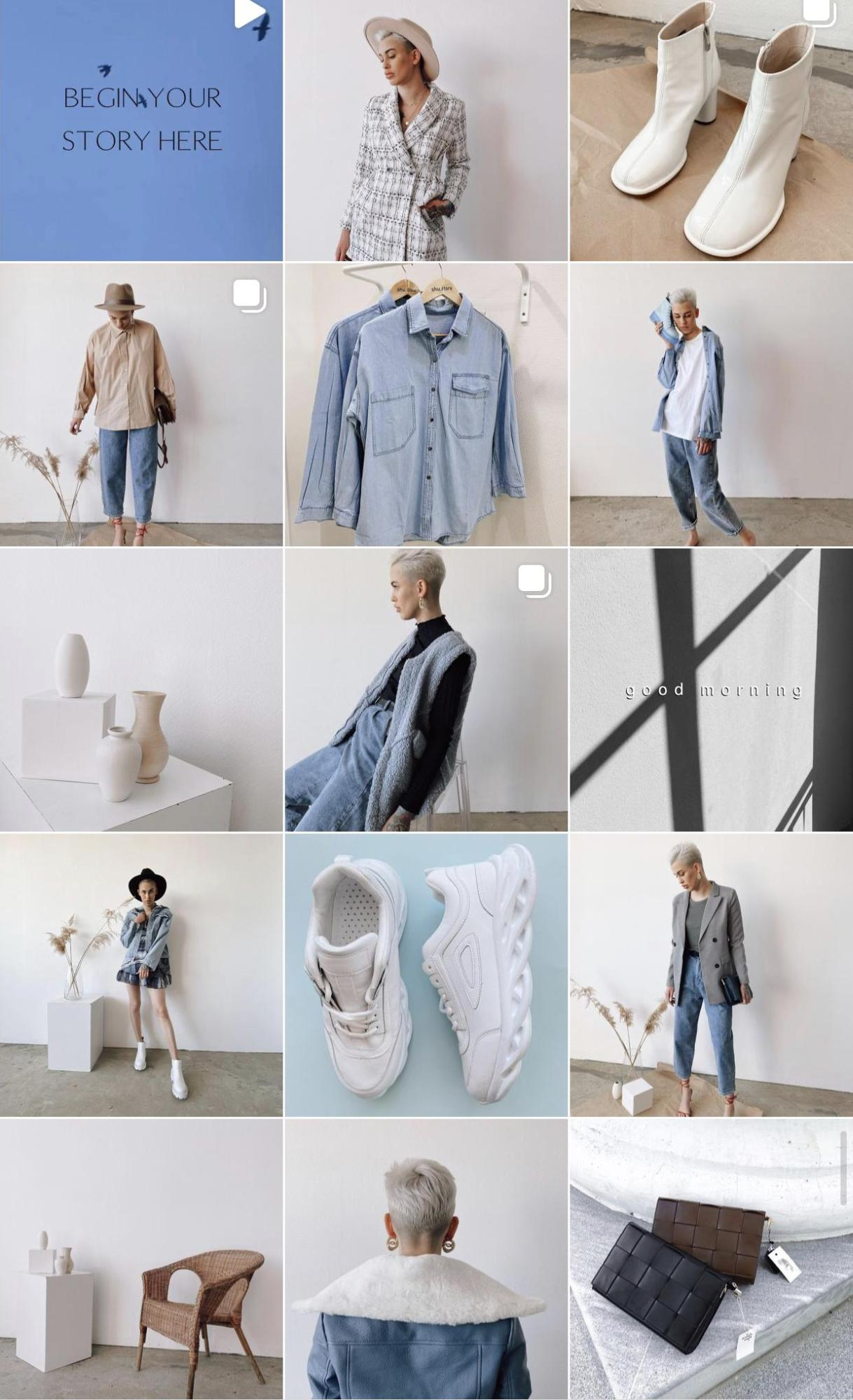 В первом случае мы видим магазин либо бренд одежды
