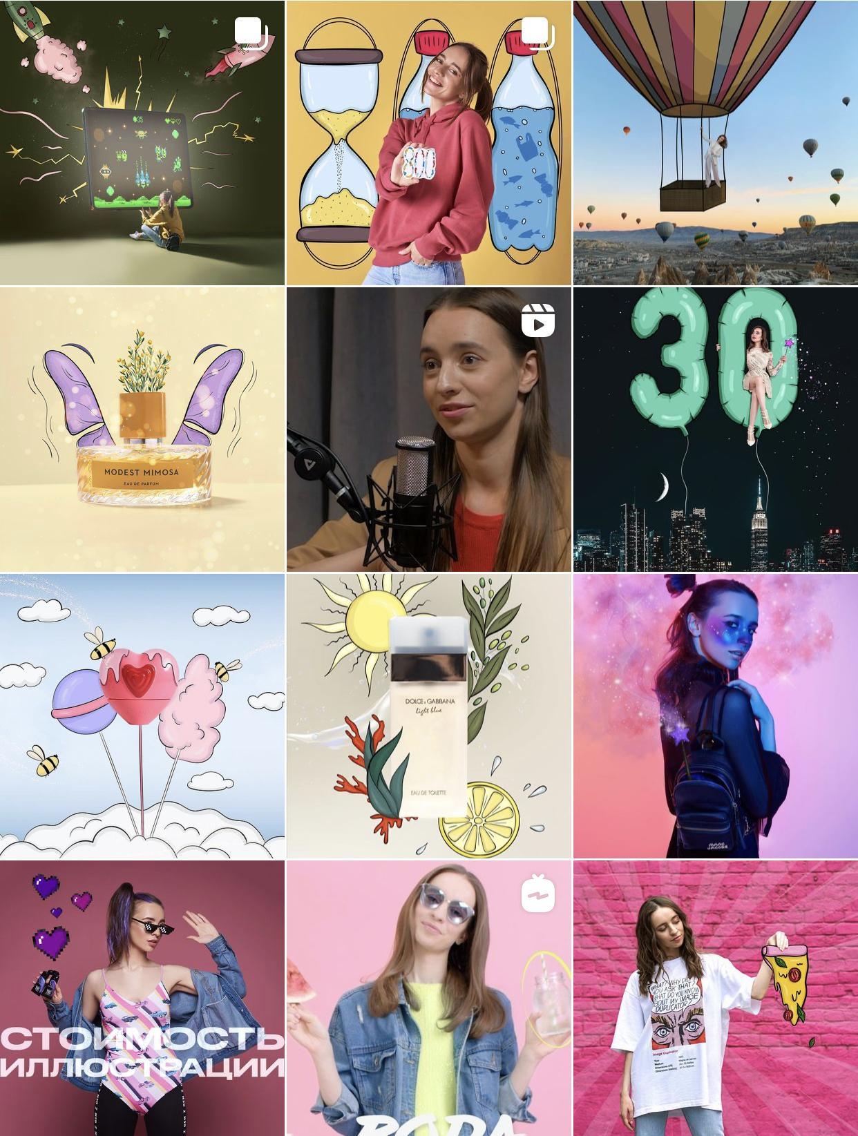 Вторая девушка – иллюстратор, также сотрудничает с брендами и создает для них креативные иллюстрации