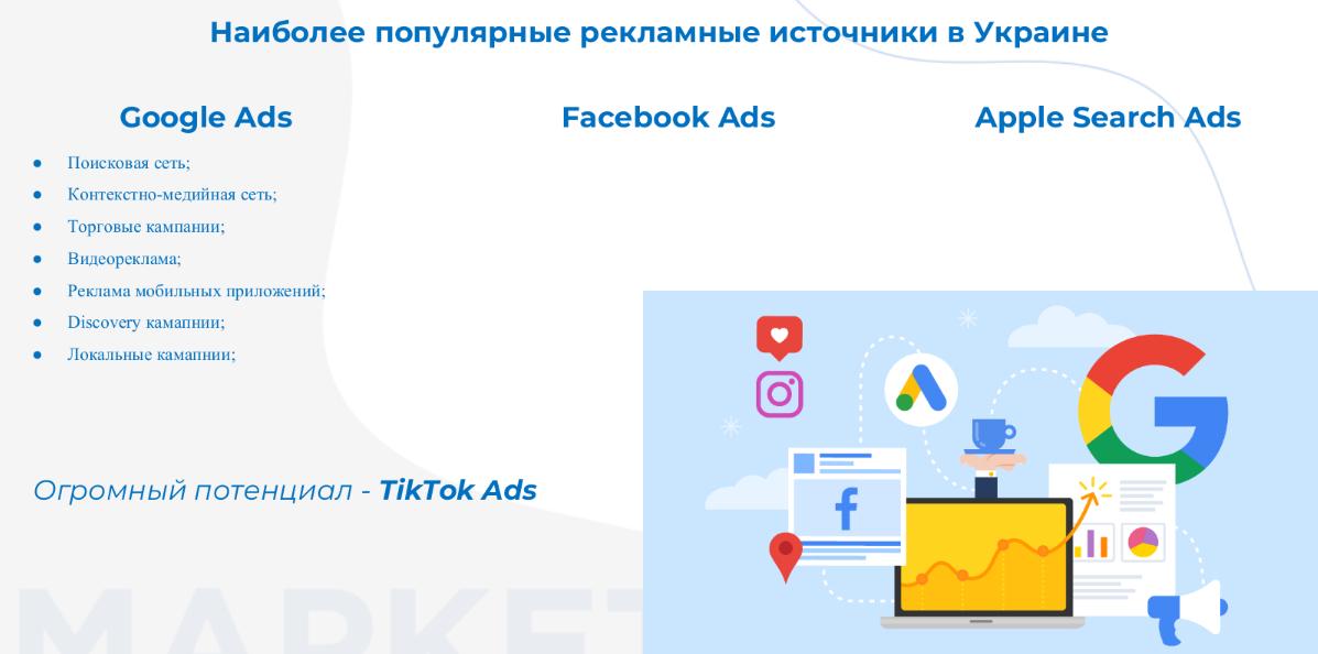 Наиболее популярные источники рекламы в Украине