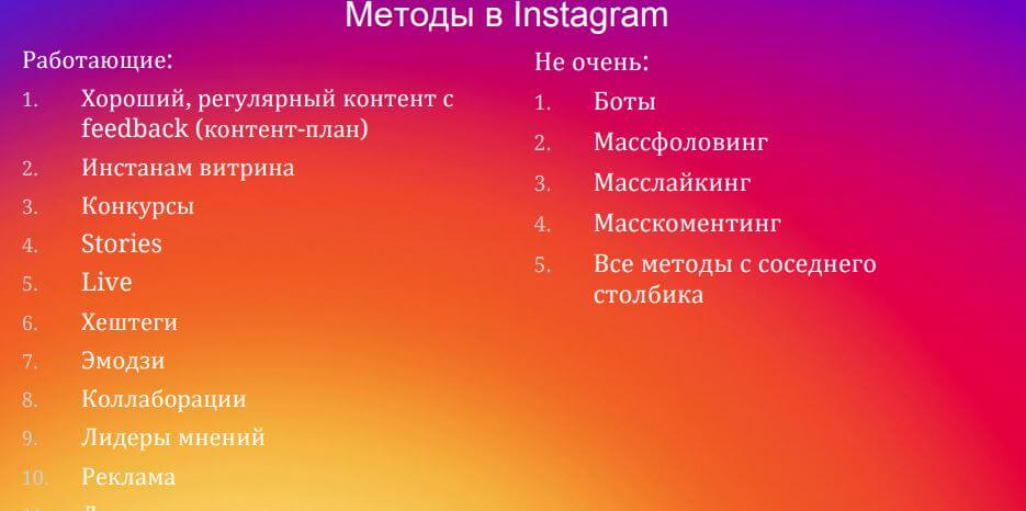 method in the instagram