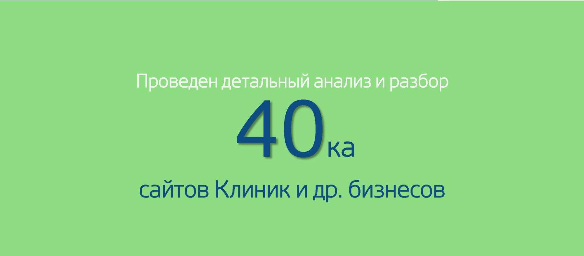 Мы с командой провели детальный разбор 40 сайтов крупных украинских клиник, стоматологий и зарубежных клиник