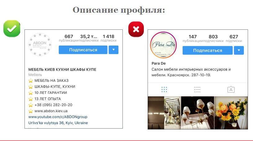 description profile