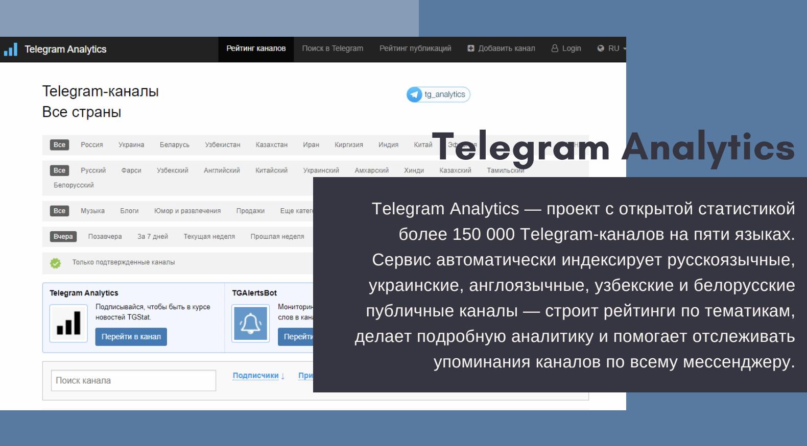 Telegram Analytics